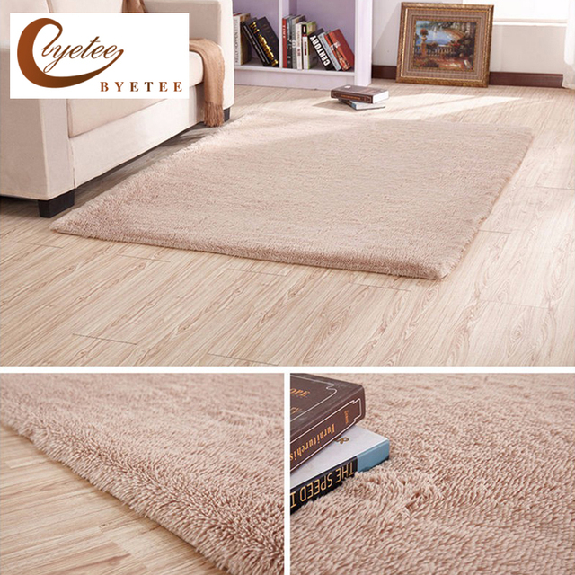 Byetee Carpet Warm Mat Washable Bedroom Living Room Teapoy Modern Style