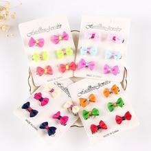 Hot 6PCS Chiffon Cute girls butterfly hairpin for kids Headdress Hair Clips Accessories