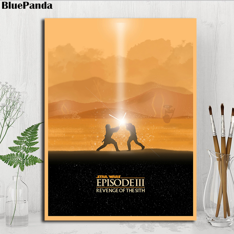 Star Wars Episode Iii Revenge Of The Sith Minimalist Poster Painting On Canvas Bedroom Wall Art Decoration Pictures Home Decor Painting Calligraphy Aliexpress