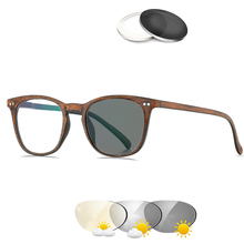 Logorela Reading&Photochromic Prescription Glasses Retro Colored Clear Reading Optical Transparent Sight Presbyopia