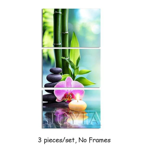 Tienda Online Arte de la lona del tríptico pintura de bambú verde ...