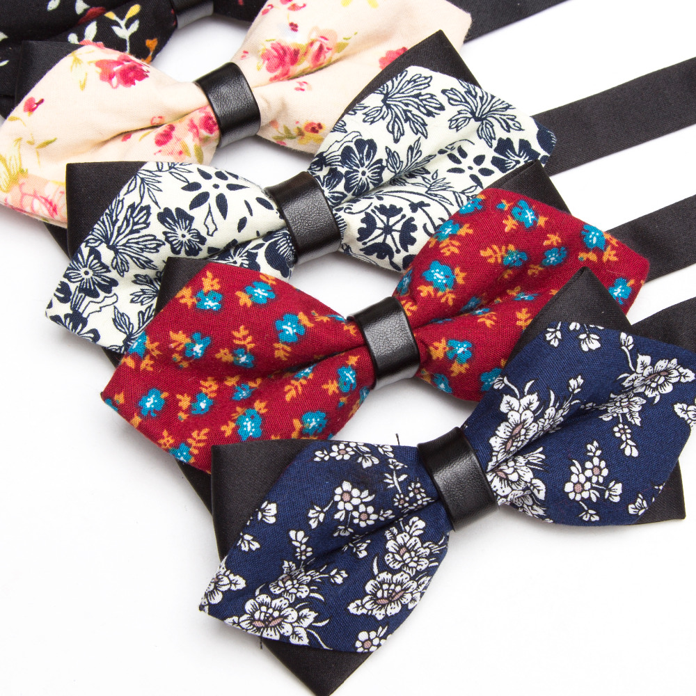 Men Bowtie Cotton print Bow Tie Party Accessories Gift Men Adjustable Formal wedding Butterfly Polyester Necktie XGVOKH Brand