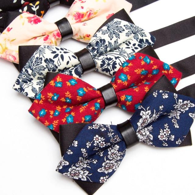 b1c6cf7fff7c Men Bowtie Cotton print Bow Tie Party Accessories Gift Men Adjustable Formal  wedding Butterfly Polyester Necktie XGVOKH Brand
