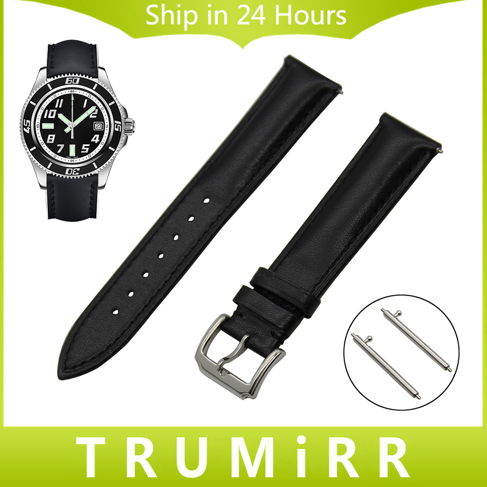 18mm 20mm 22mm Quick Release Watch Band Genuine Leather Strap for Breitling Men Women Wrist Belt Stainless Steel Buckle Bracelet laopijiang men and women leather leather strap watch for car master 18 20 22mm
