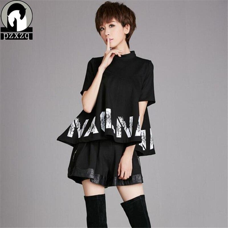 Été Harajuku marque conception femmes T-shirt 2 ensembles Hip Hop Streetwear T-shirt Camisetas Mujer Cool Blusa Punk Rock Tumblr T-shirt