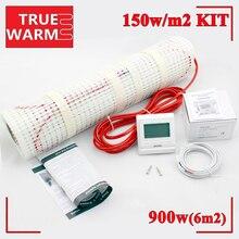 Высокое качество 6m2 электрического отопительная коврики комплект для помещений, 900 Вт 150 Вт/m2, оптовая продажа t150-6.0