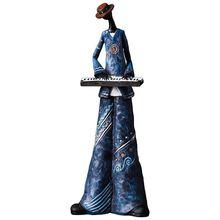 Творческая фигура Art музыкальная рок-группа смолы статуя весело Ретро музыкант украшения дома саксофон гитара певица Скульптура R870