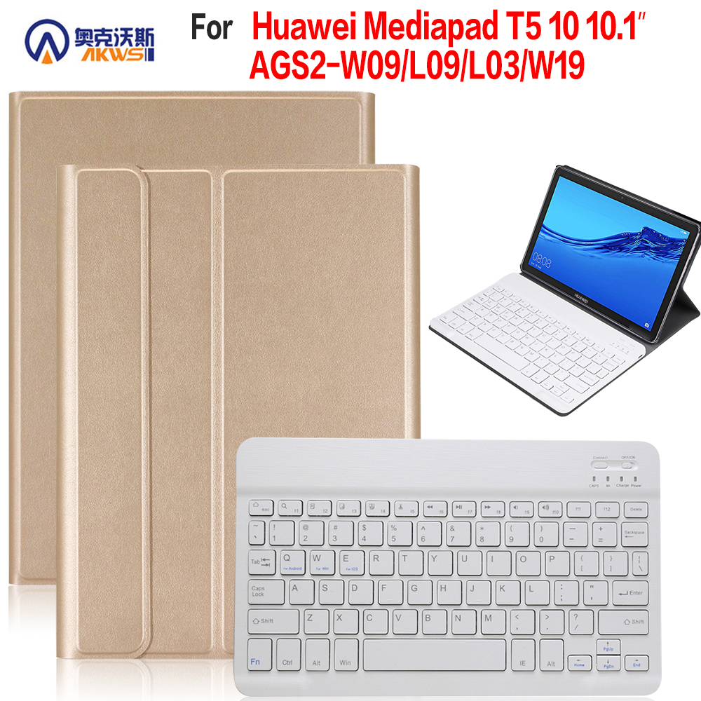 Walkers Bluetooth Keyboard Case for Huawei Mediapad T5 10 10.1 Tablet Removable Cover for T5 10 AGS2-W09/L09/L03/W19Walkers Bluetooth Keyboard Case for Huawei Mediapad T5 10 10.1 Tablet Removable Cover for T5 10 AGS2-W09/L09/L03/W19