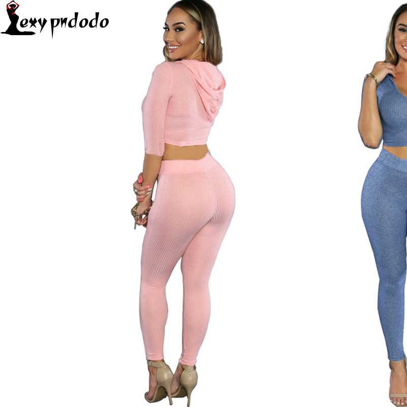 2016 Women Two Pieces Sets Pink Long Sleeve Bandage Jumpsuit Club Night Wear Woman Bodycon Jumpsuits combinaison femme Bodysuit