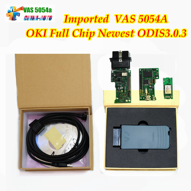 5pcs/lot New ODIS 3.0.3 VAS5054A OKI Full Chip VAS 5054A Bluetooth USB VAS5054 A UDS Protocol Car Diagnostic Tool 5054 Scanner high quality vas5054a with oki full chip car diagnostic tool support uds protocol vas 5054a odis v4 13 bluetooth for audi for vw