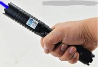 AAA High power 450nm 500000m 500W Hunting Blue laser pointer Flashlight LAZER burning match/dry wood/black/burn cigarettes+5 cap