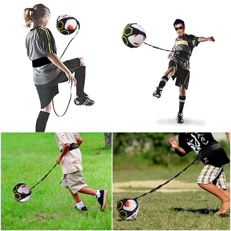Soccer Training Sports Assistance Adjustable Football Soccer Kick Trainer Soccer Ball Swing Bandage Control Equipment Waist Belt