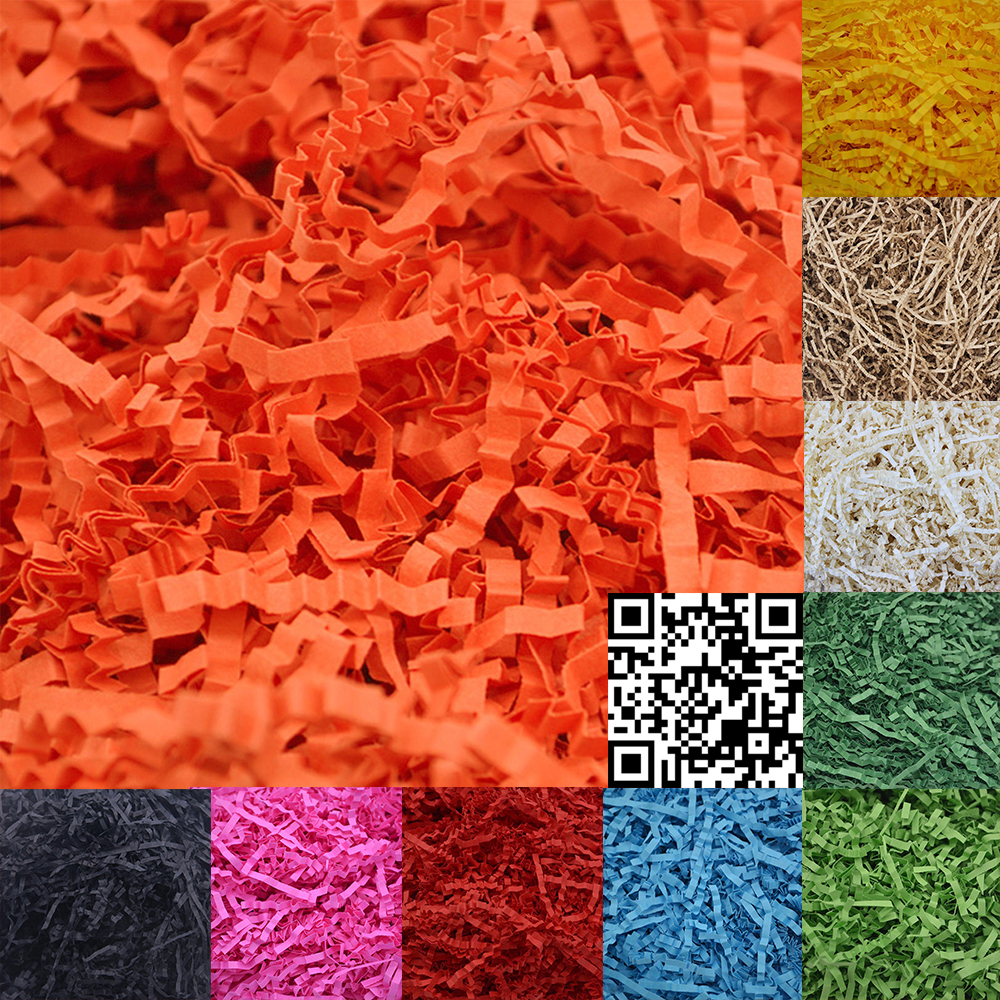 100g Confetti Crinkle Cut Paper Shred Filler For Gift Wrapping Basket Filing Packing Craft Bedding Jewelry Display Accessories