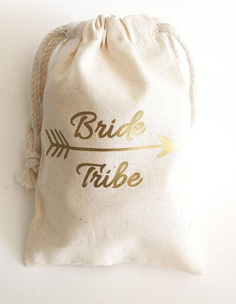 personalized gold bride tribe wedding hangover kit jewelry favor muslin bags bachelorette hen bridal shower champagne party gift in gift bags wrapping
