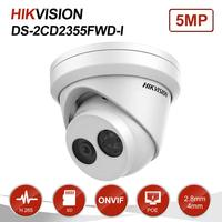 Hikvision 5MP Turret IP Camera PoE Onvif With Audio Home/Outdoor IP67 Night Vision CCTV Security Surveillance DS 2CD2355FWD I