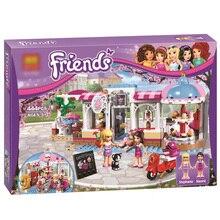Friends heartlake кекс кафе здания Конструкторы комплект Модель Кирпичи девушка игрушка 41119 совместим с Legoes друзей для обувь девочек