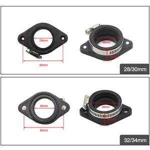 Image 2 - ZSDTRP For 21 24 26 28 30 32 34mm OKO KEIHIN KOSO PE Carburetor Pit Dirt Bike Rubber Adapter Inlet Intake Pipe