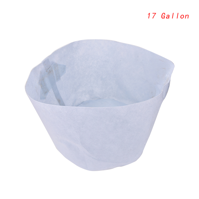 Household Garden Practical Planter Crafts White Fabric Grow Bag Pot Basket Plant Vegetable Pouch Aeration Container Handle Bag
