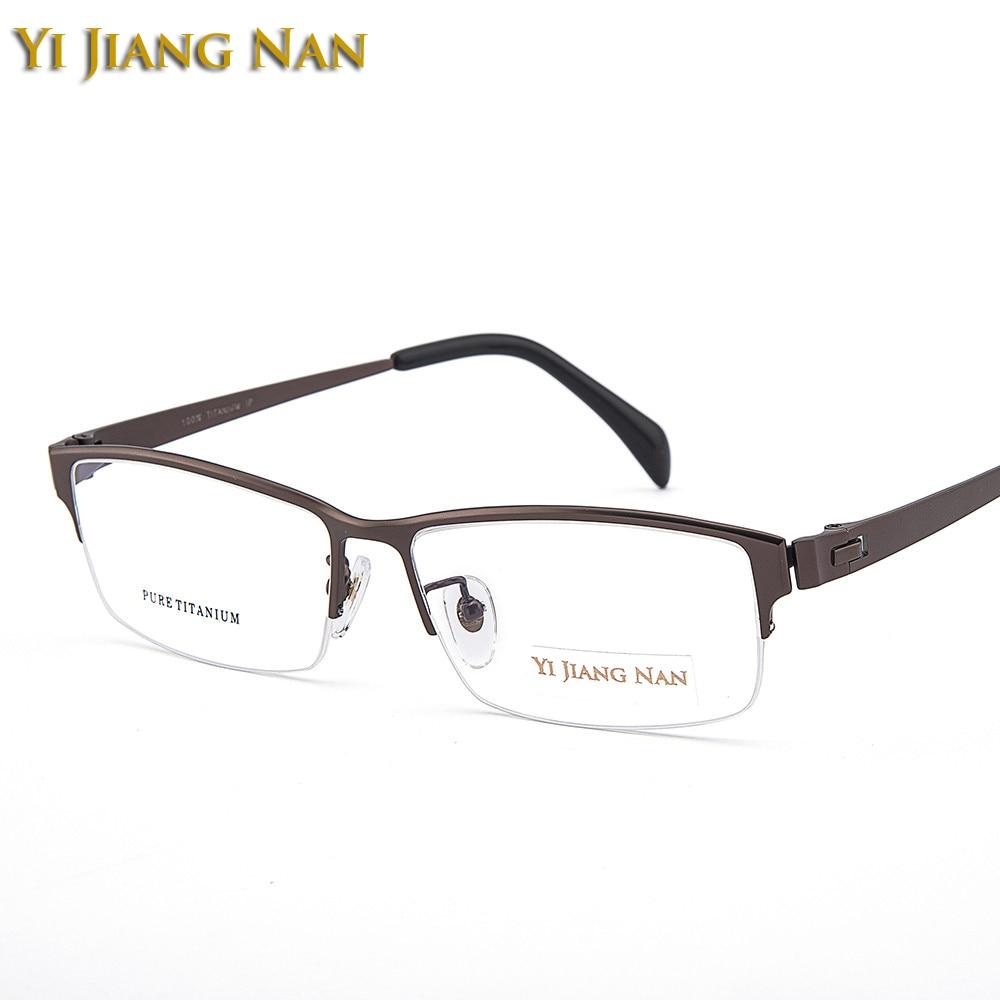 Yi Jiang Nan Brand Gentlemen Big Eyeglasses Top Quality Wide Frame Male Prescription Lenses Glasses for