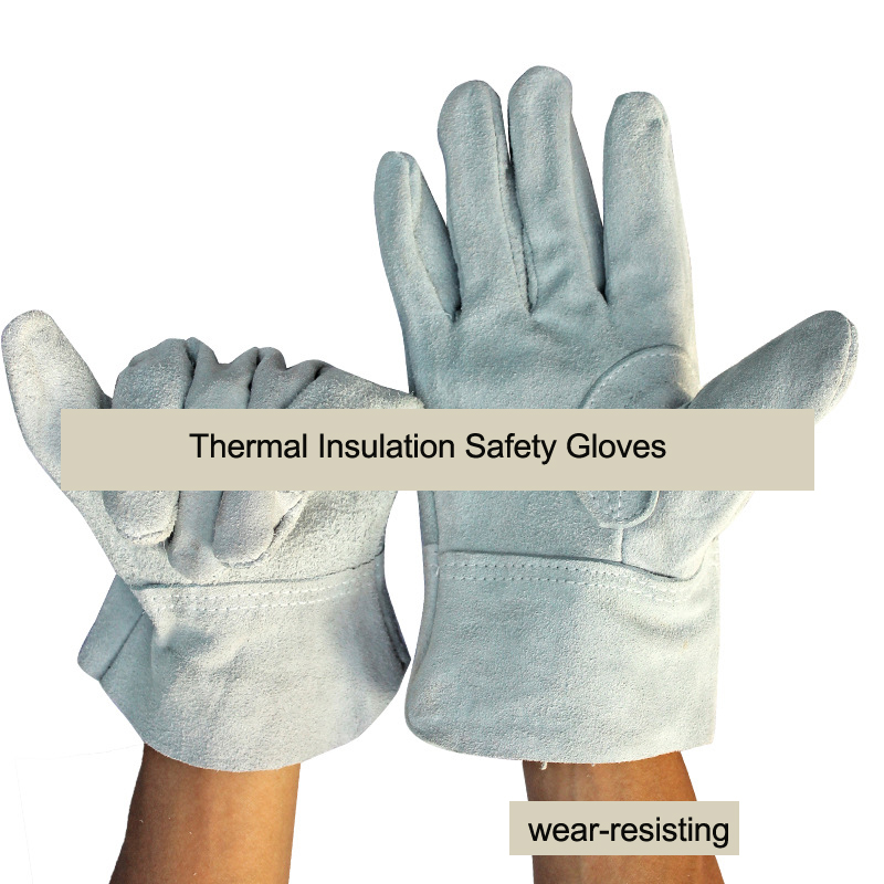 ANGOOD Thermal Insulation Super Wear-resisting Welding Fireproof Safety Gloves Cow Leather Workplace Safety Supplies