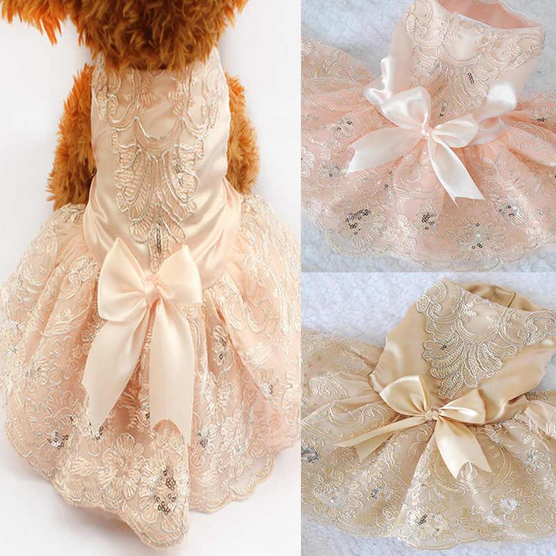 Вышитые платья для собак, свадебное платье принцессы для собак, юбка для домашних животных, одежда, товары TB, распродажа