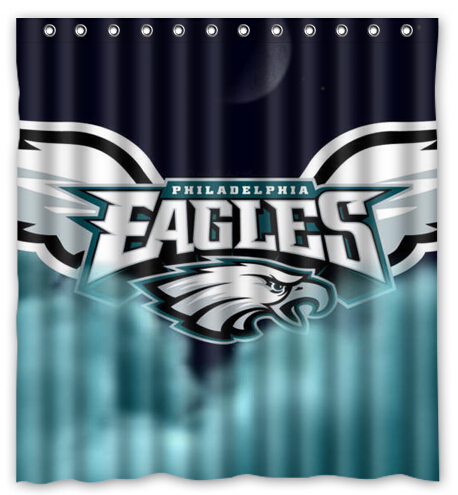 Philadelphia Eagles Sport Team Waterproof Polyester Fabric Shower Curtain For Bathroom Home Decor Size 150x180cm L 38