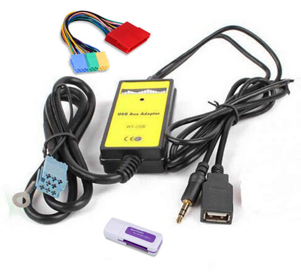 車 MP3 音楽プレーヤーラジオインターフェイスで CD チェンジャーの Usb SD AUX アダプタアウディ A2 A4 A6 S6 A8 s8 とマイクロ SD カードリーダー