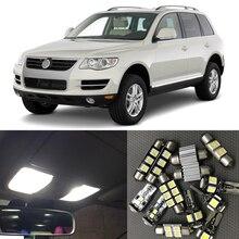 16 шт. автомобильный интерьерный светодиодный светильник Canbus, набор для 2005-2010 Фольксваген туарег, белая карта, купол для багажника, ступенчатая лампа