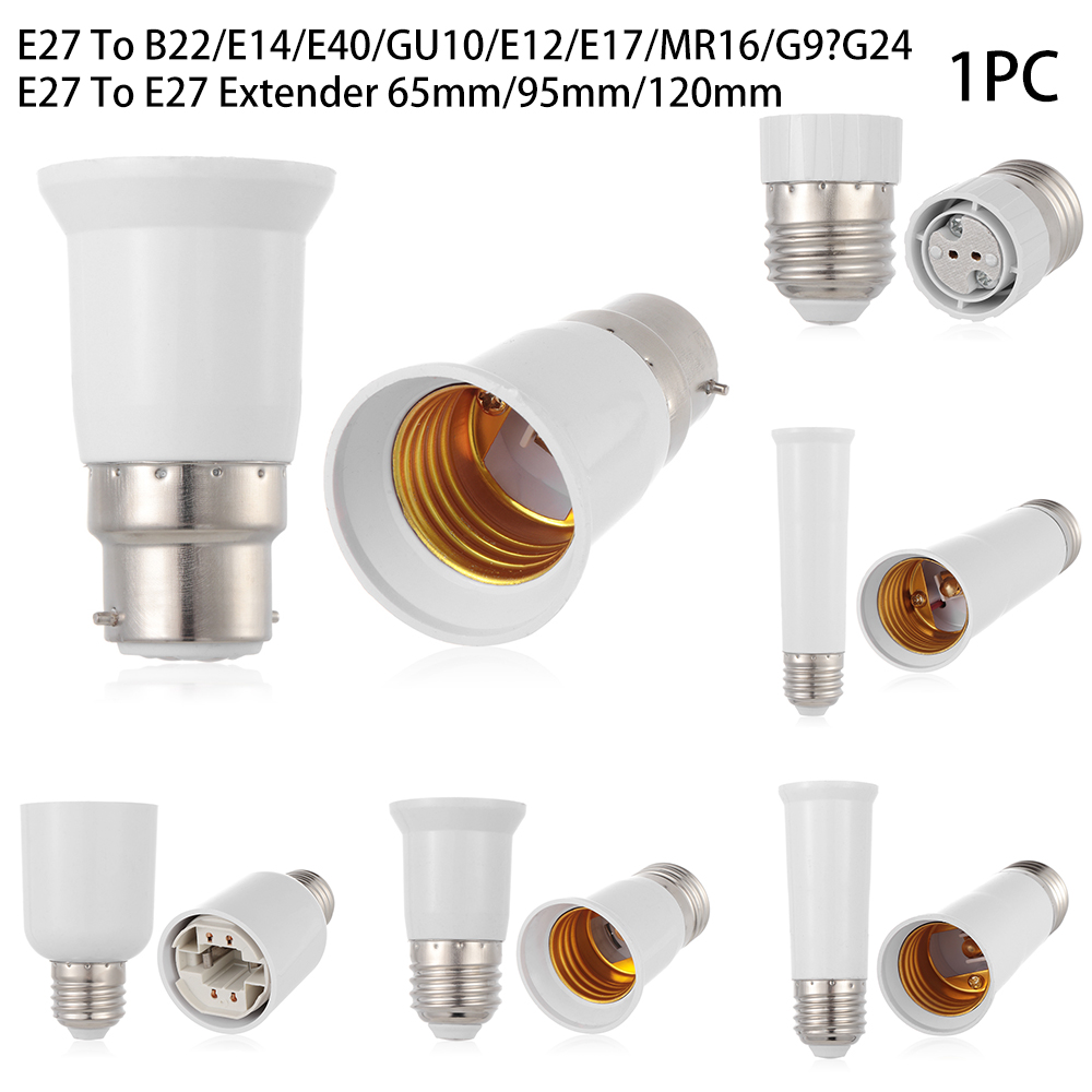 Lights & Lighting Steady Led Lamp Bulb Base Conversion Holder E27 To B22 E14 E40 Gu10 E12 E17 Mr16 G9 G24 Converter Socket Adapter For Home Lighting To Be Highly Praised And Appreciated By The Consuming Public