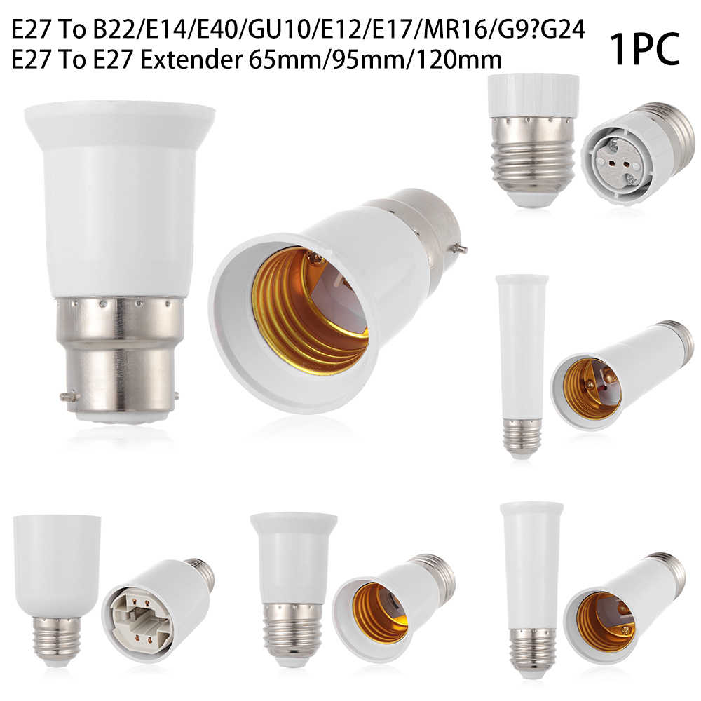 Led Lamp Bulb Base Conversion Holder E27 To B22 E14 E40 GU10 E12 E17 MR16 G9 G24 Converter Socket Adapter For Home Lighting