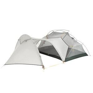 Image 4 - Naturehike Mongar 2 Personen Camping Zelt 20D Nylon Fabic Doppel Schicht Wasserdichte Zelt für 3 Jahreszeiten NH17T007 M