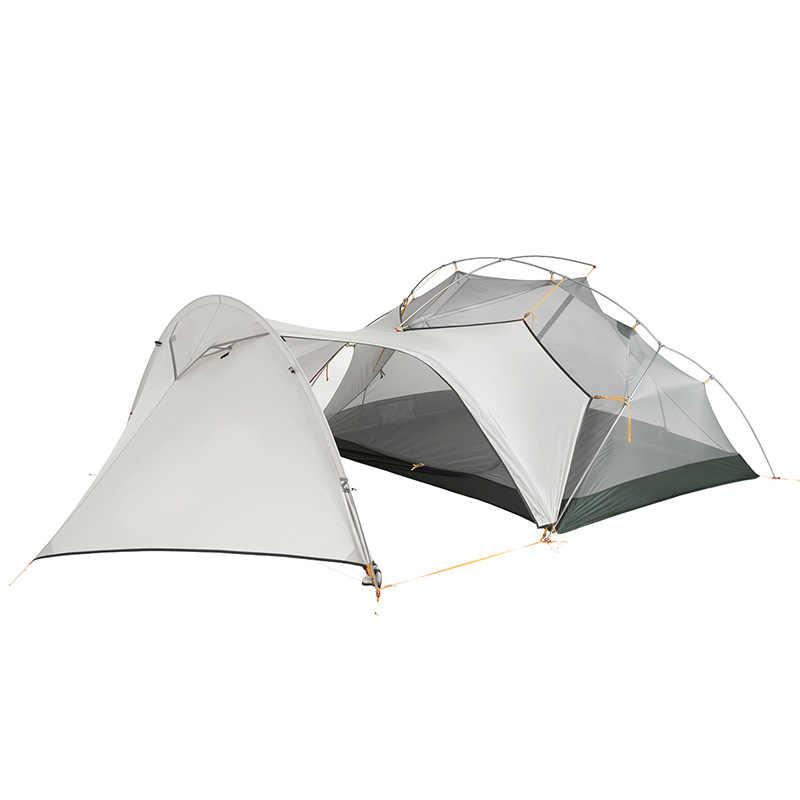 Naturerandonnée 3 saisons Mongar tente de Camping 20D Nylon Fabic Double couche tente étanche pour 2 personnes NH17T007-M