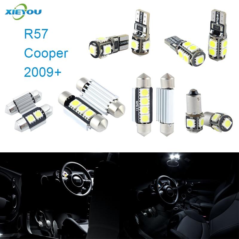 XIEYOU 9 ədəd LED Canbus Daxili işıqlar dəsti Cooper R57 (2009+) - Avtomobil işıqları - Fotoqrafiya 1