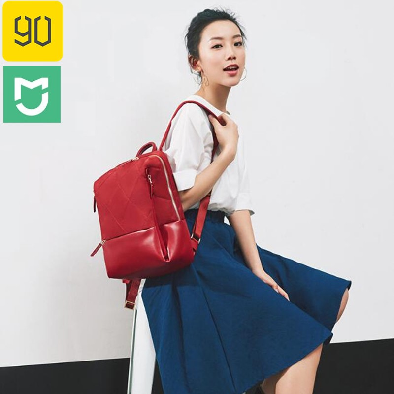 90fun Diamond Lattice Backpack Women Fashion Xiaomi Shoulder Bag Large Capacity For Laptop With Waterproof Side Bag For Umbrella