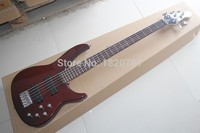 Free Shipping Musical Instruments Active Pickup Best 5 String Peavey One Piece Set Electric Bass Guitar