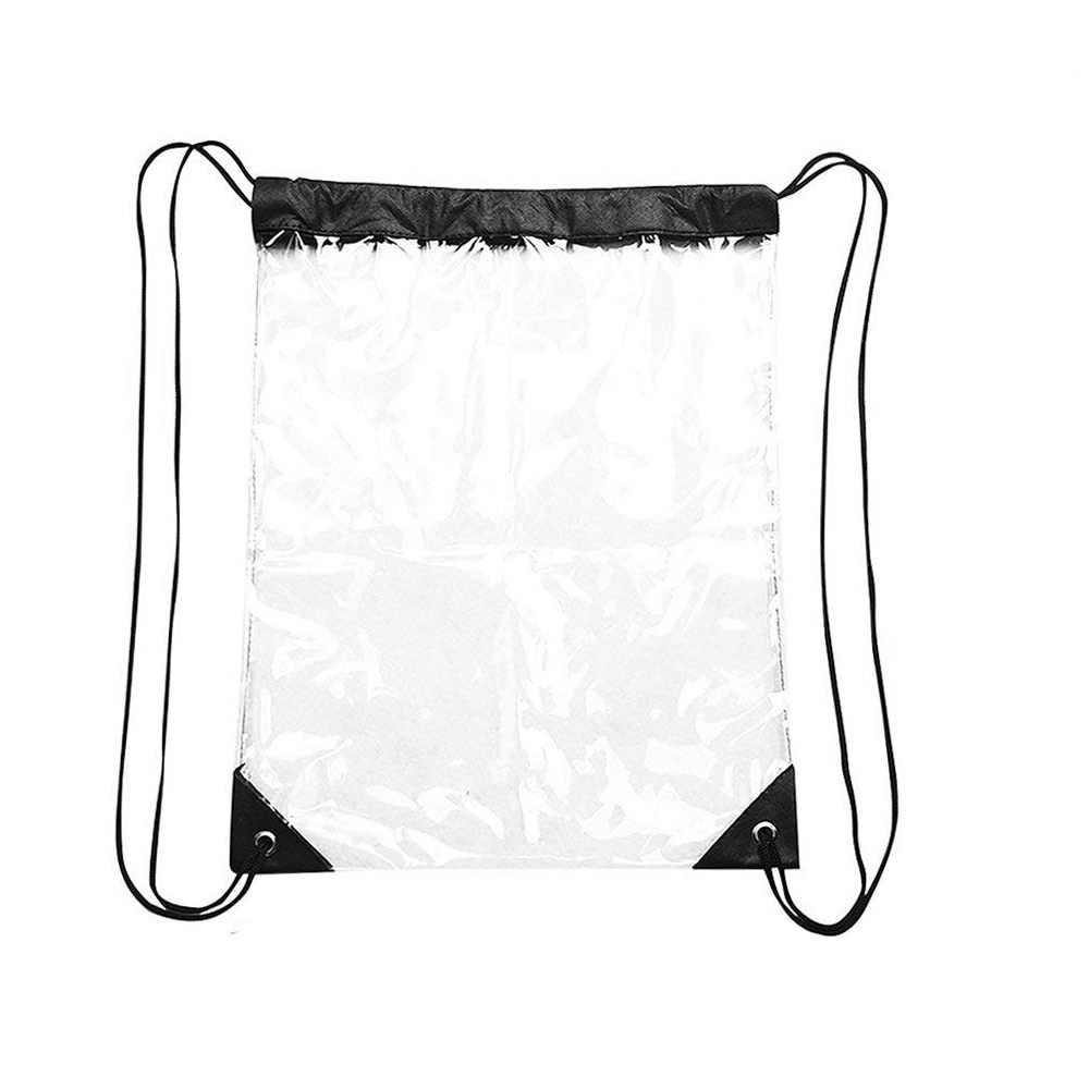 Klare Rucksack, Wasserdichte Kordelzug Tasche für Frauen und Männer Schule Sport Gym