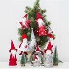 Christmas Cloth Doll Pendant Mini Wooden Christmas Tree Cute Doll Ornament Christmas Ornament Wooden Christmas Home Decor
