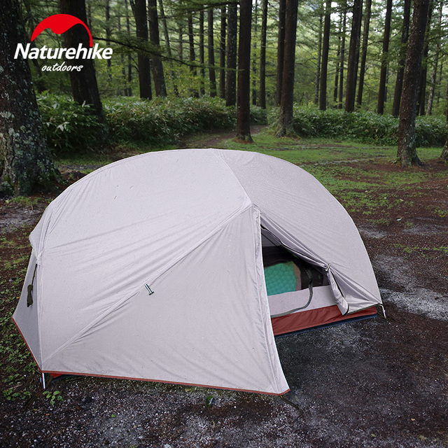 Naturehike Custom Mongar 2 3 Person Waterproof Double Layer Outdoor Tent Aluminum Rod Gray Ultralight Camping Tents Mat e-EMS 6