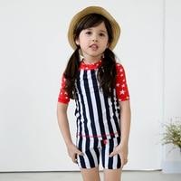 2017 Korean Version Of The New Big Boy Girls Split Children Swimsuit Boxer Cute Baby Stripe
