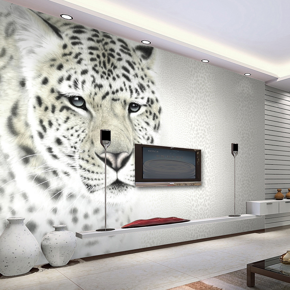 Custom Mural Wallpaper 3D Non-woven Modern Fashion Leopard Grain Living Room TV Backdrop Decorative Painting Art Wallpaper Roll