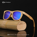 KITHDIA Handmade Retro Wooden frame Sunglasses Polarized Eyeglasses Colorful Reflective lens Men/Women Bamboo sunglasses