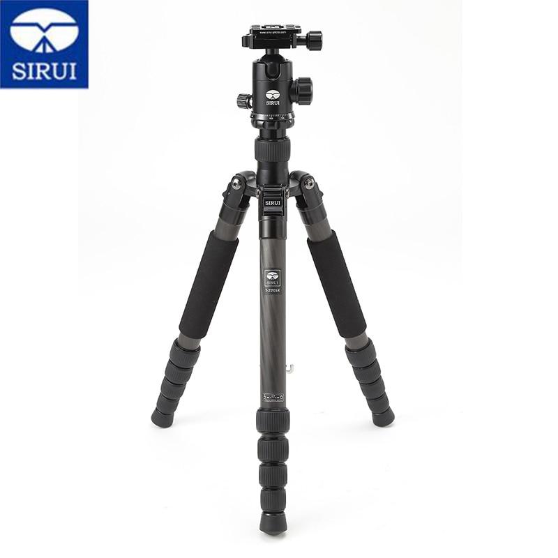SIRUI T2205X G20X Professional Tripod Kit Carbon Fiber Portable Tripod Stable Ball Video Head For Nikon Canon Digital Camera SLR