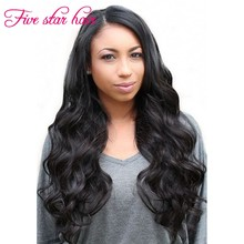 Right part long Wavy Full Lace wig with natural hairline cheap price Brazilian Glueless Lace Front wig with baby hair