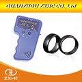 Handheld 125 khz em4100 rfid copiadora escritor duplicador programador leitor + id125khz rfid preto cerâmica inteligente dedo anel wear