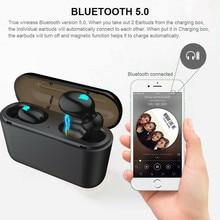 цена на PYMH Wireless Earbuds TWS Mini True Bluetooth 5.0 Stereo Earphone Bass In-Ear Headset