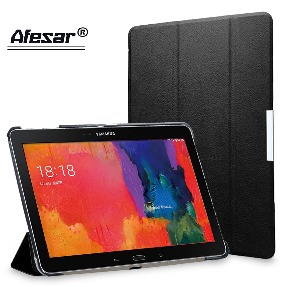 Afesar UltraSlim Stand book Cover Case for Samsung Galaxy Tab Pro 10.1 inch or SM T520 T521 T525 tablet pu leather Case magnetic lychee pattern protective pu pc case w stand for samsung galaxy tab pro 10 1 t520 black