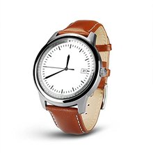 Bluetooth Smart Watch wristwatch Waterproof Leather Strap Full HD IPS Screen Fitness Tracker For IOS Android Smartphone