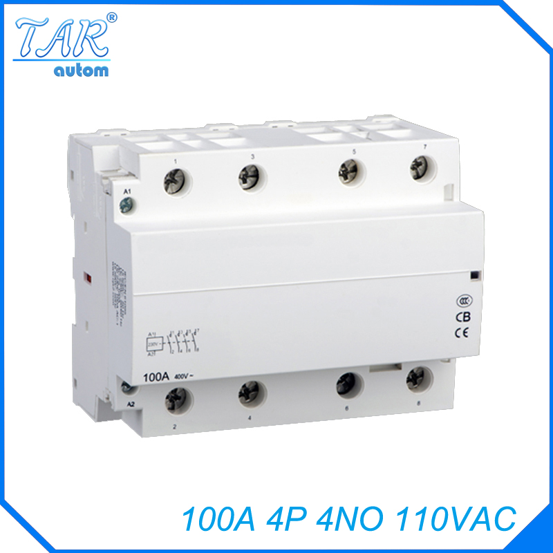 все цены на Modular household AC contactor for automobile charging pile 4NO 100A 110V modular charging pile with онлайн