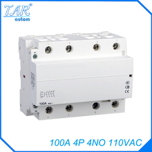 Modular household AC contactor for automobile charging pile 4NO WCT-100A 4P 110V modular charging pile with pile sytem lithium for 0g3399 poweredge 1850 2850 2800