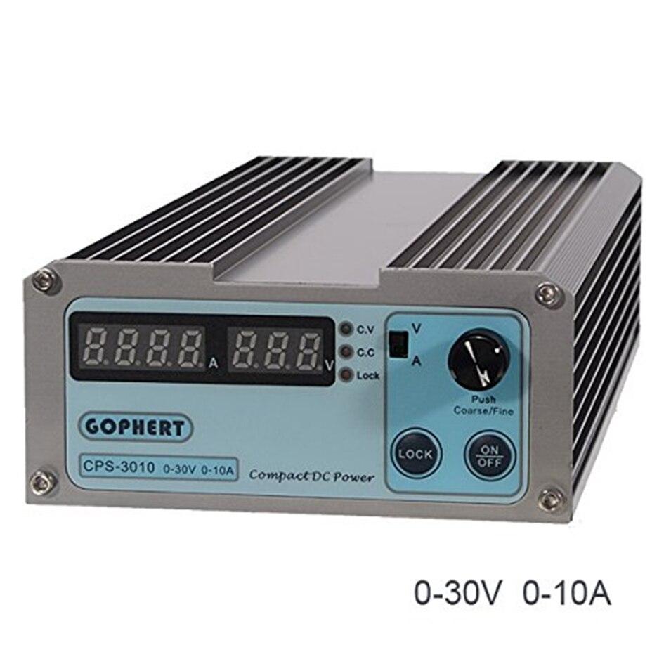 Nouveau CPS-3010II 30V 10A précision numérique réglable DC alimentation commutable 110 V/220 V avec OVP/OCP/OTP DC puissance 0,01a 0.1V